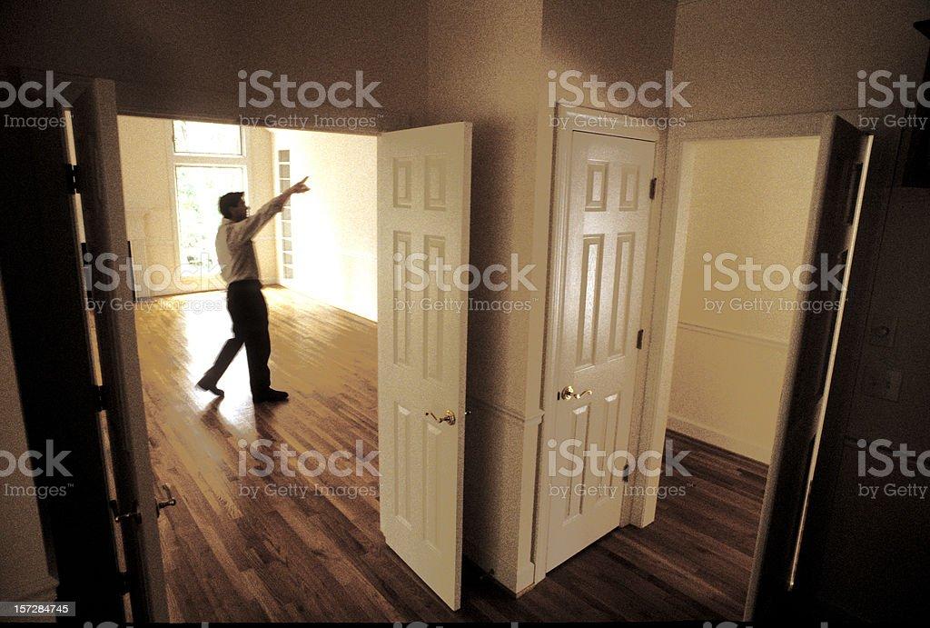 New house - interior stock photo