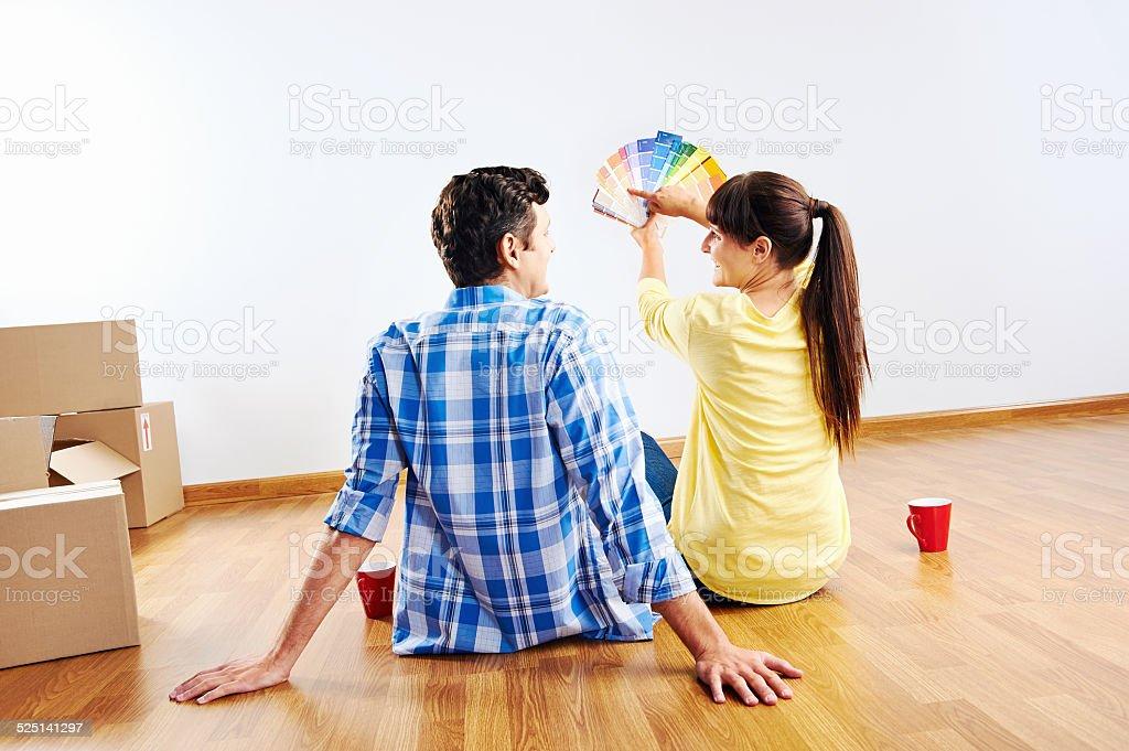new house paint stock photo