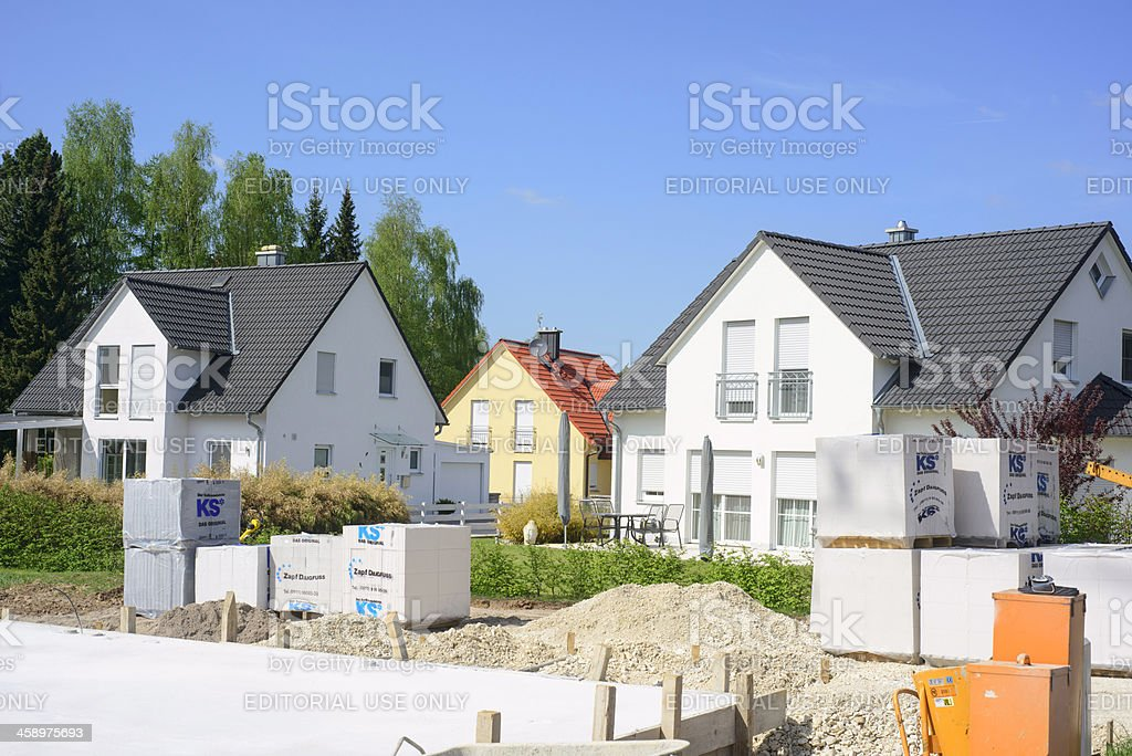 new house reconstruction stock photo