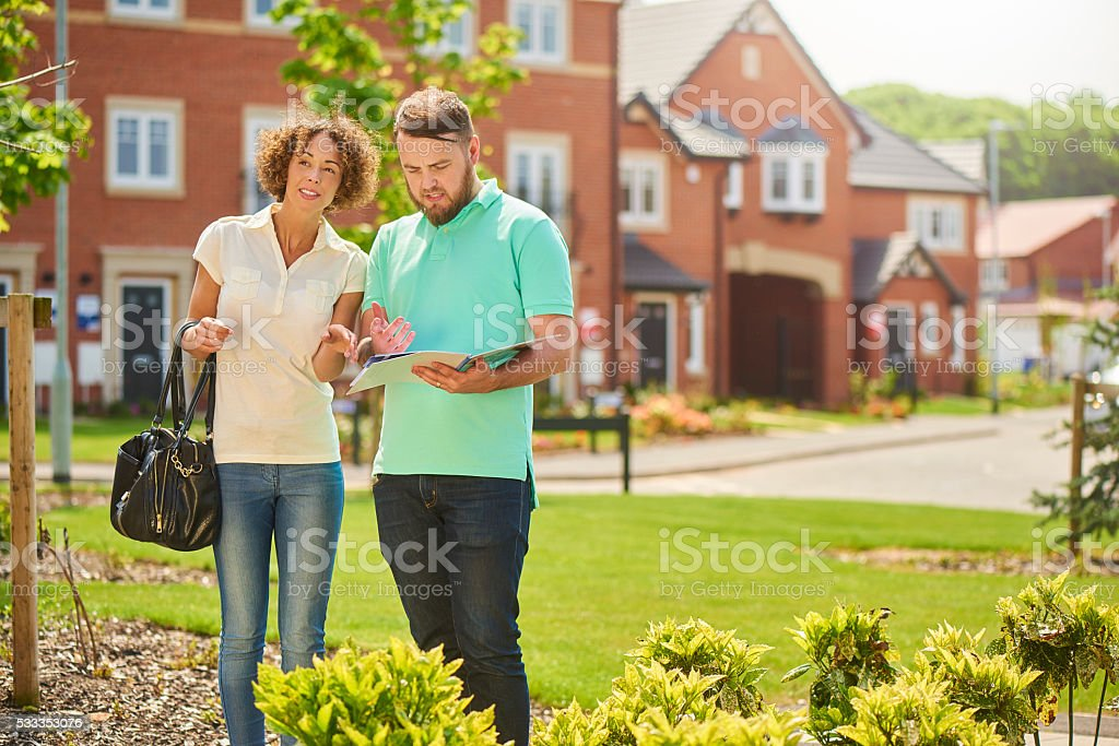 new house search stock photo