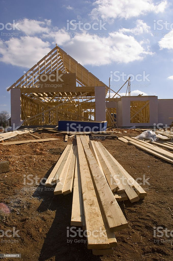 New house under construction royalty-free stock photo