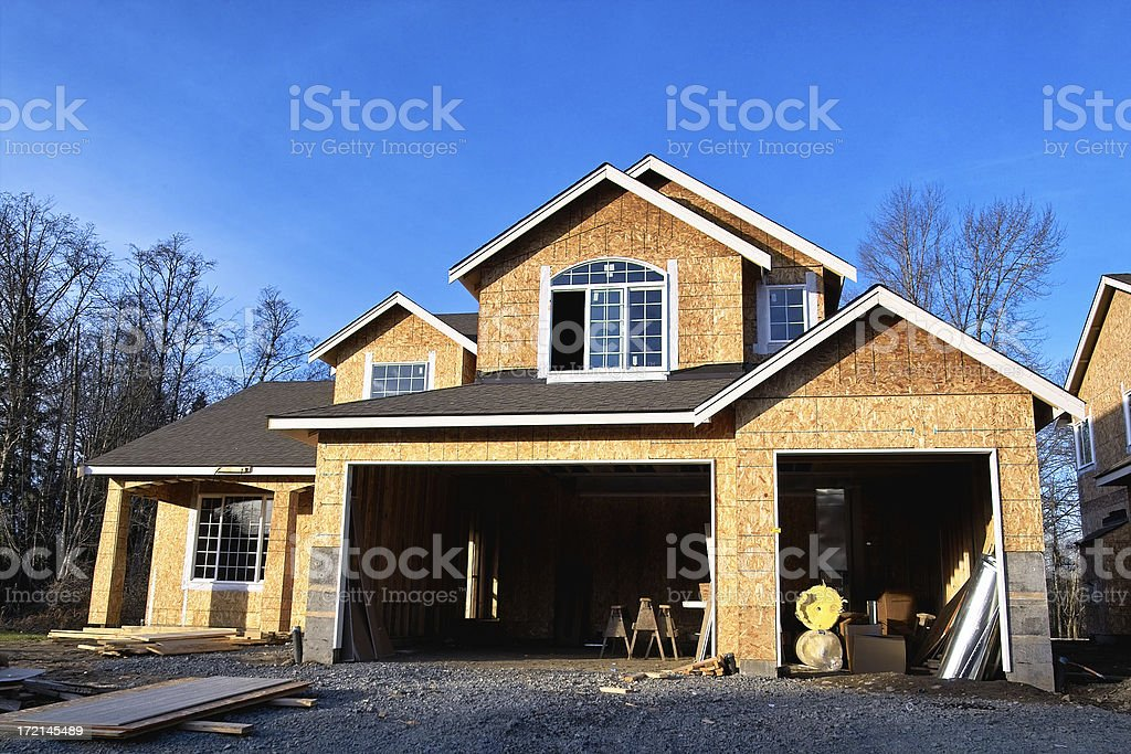 New House Under Construction stock photo