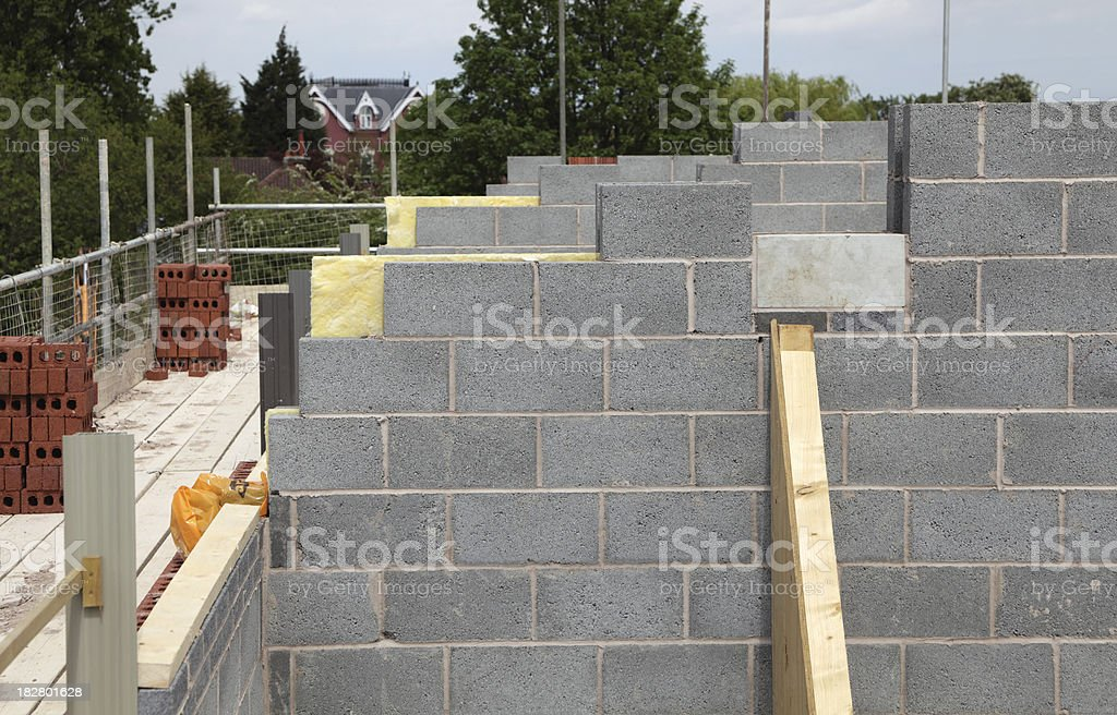 new house under construction. royalty-free stock photo