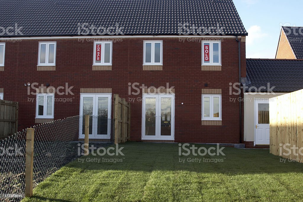 New houses for sale royalty-free stock photo