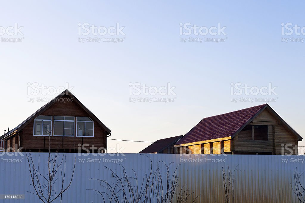 new houses in country village royalty-free stock photo