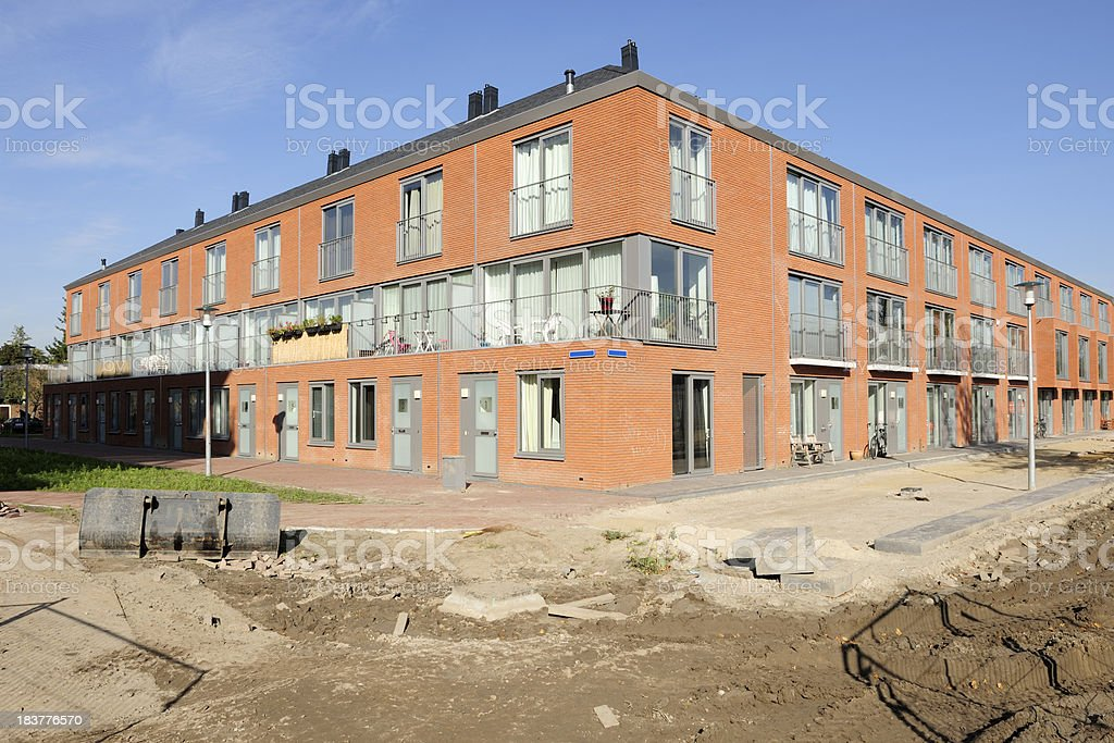 New houses in the Netherlands royalty-free stock photo