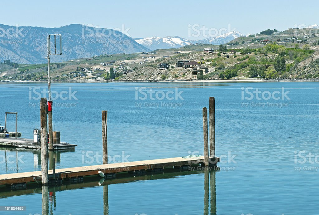 New houses on Lake Chelan in north central Washington state stock photo