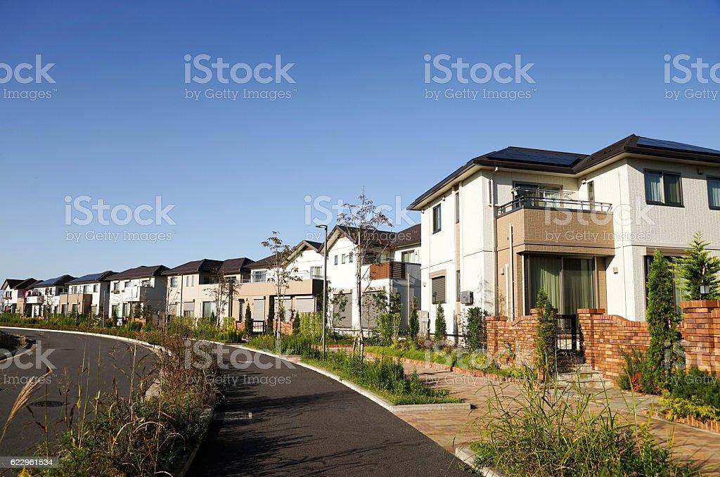 New houses stock photo
