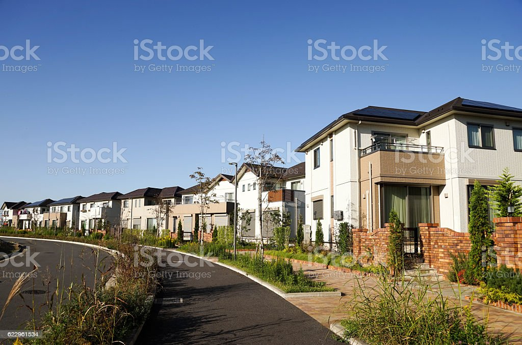 New houses stock photo