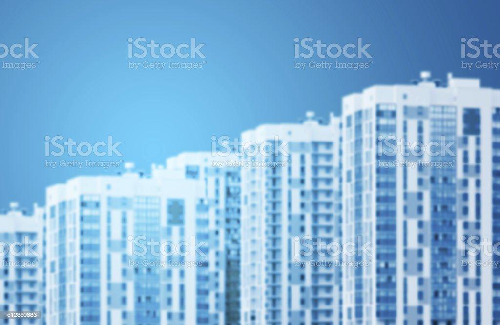 New houses row, isolated stock photo