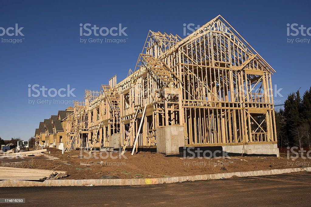 New Housing Development Construction royalty-free stock photo