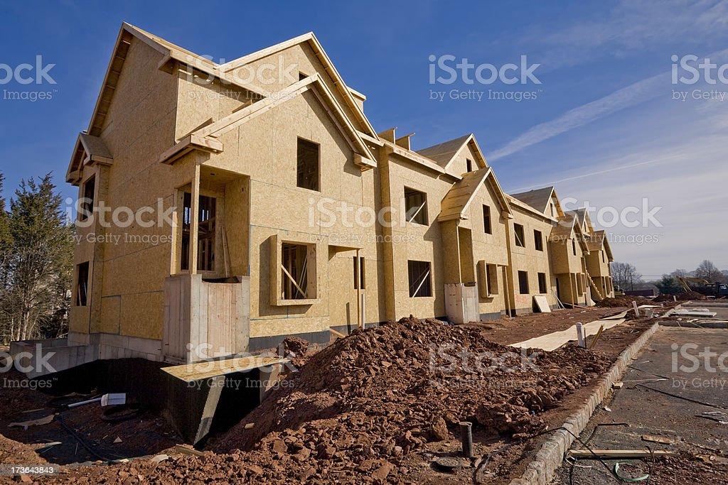 New Housing Development Framing royalty-free stock photo
