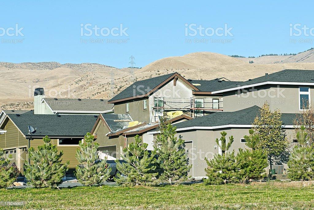 New housing development in Boise ID royalty-free stock photo