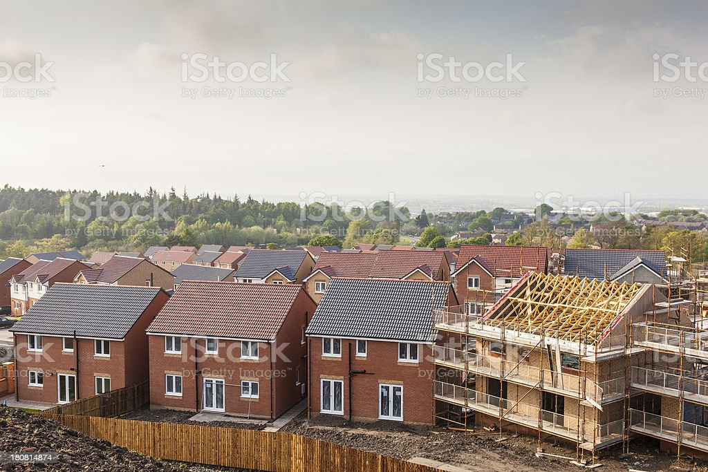 New Housing Development. stock photo