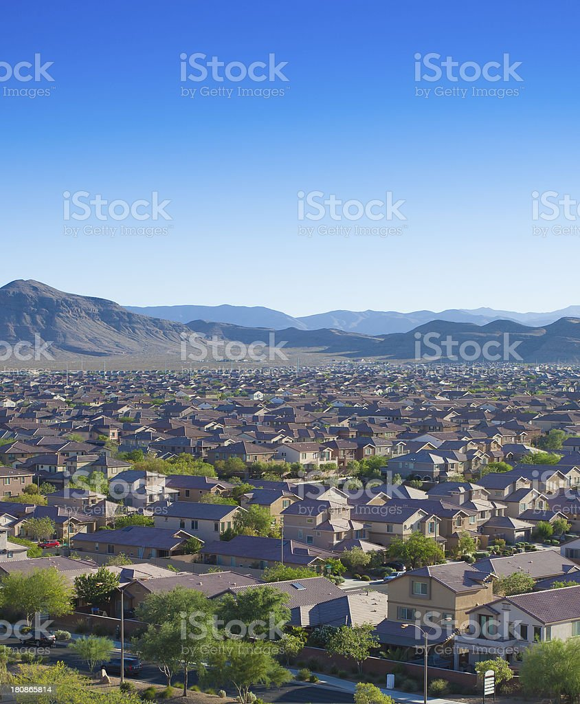 New Housing Developments In Las Vegas stock photo