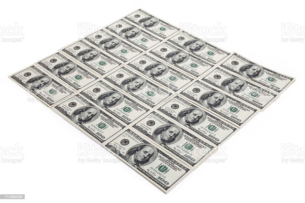 New Hundred Dollar Bills stock photo