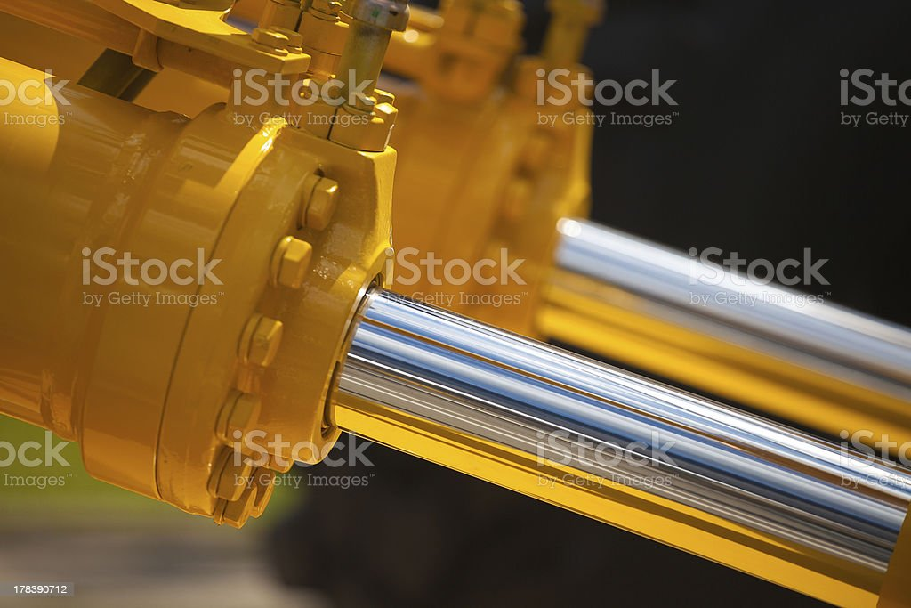 New hydraulic pistons stock photo