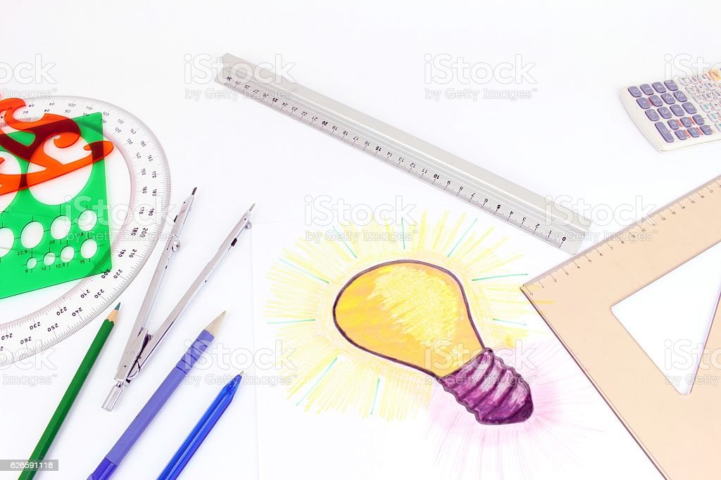 New idea industry and handicraft stock photo