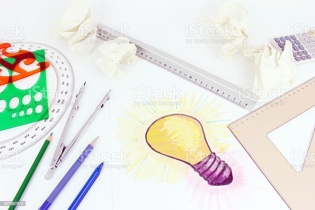 New idea industry and project stock photo