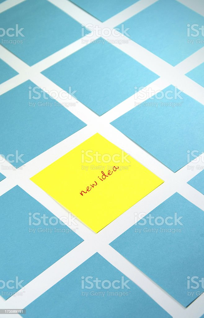 New Idea On Sticky Note at Brainstorming Session royalty-free stock photo