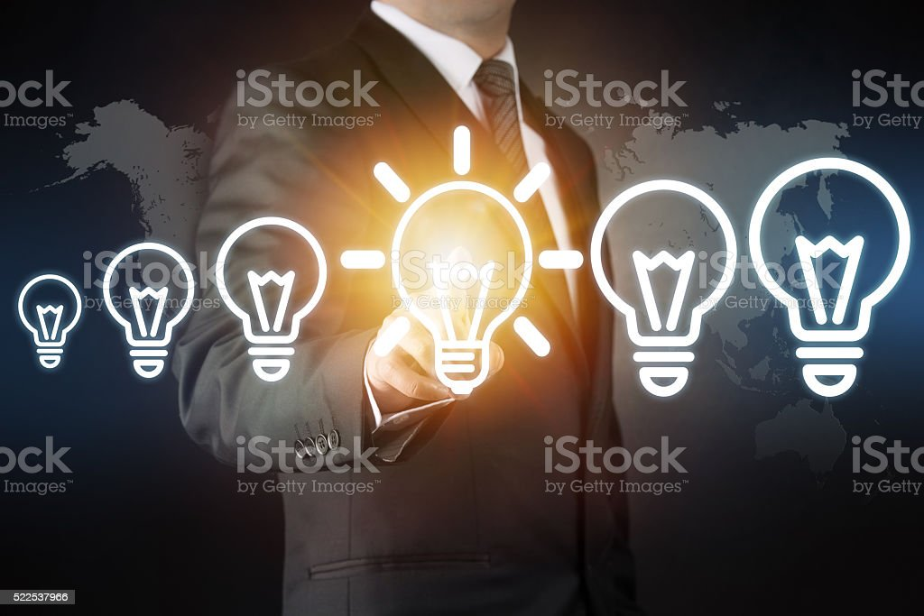 New ideas - Bulb concept stock photo
