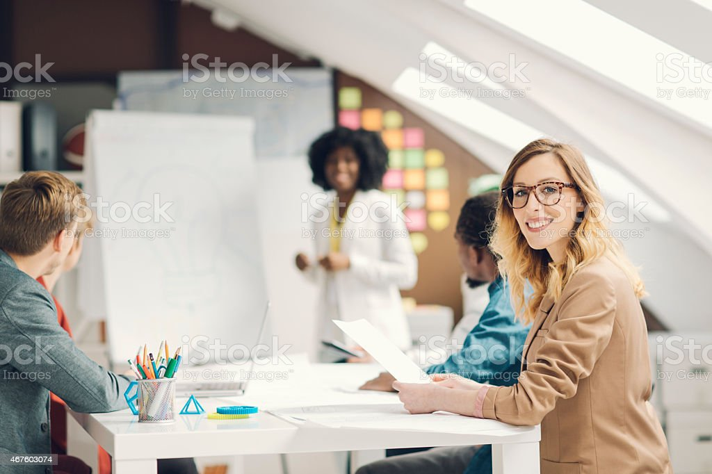 New Ideas From Young Creative Startup Team. stock photo