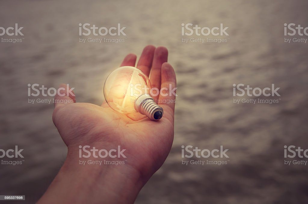 New ideas innovation concept, idea and creativity. stock photo