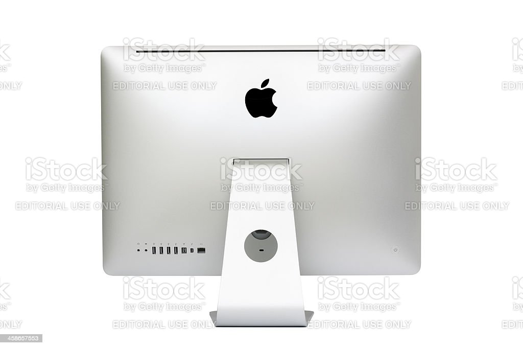 New iMac desktop computer, Mid 2011 model. stock photo