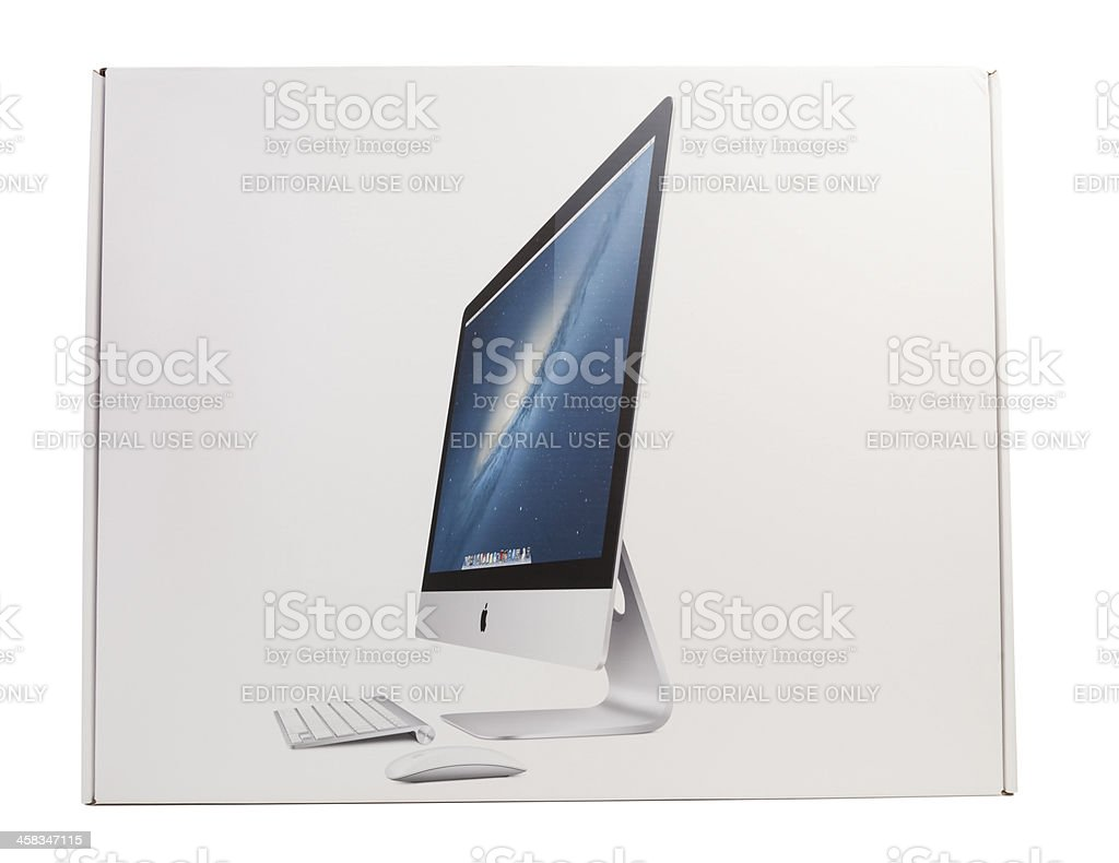 New iMac Packaging Box royalty-free stock photo