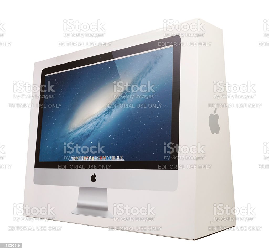 New iMac Packaging Box royalty-free stock photo