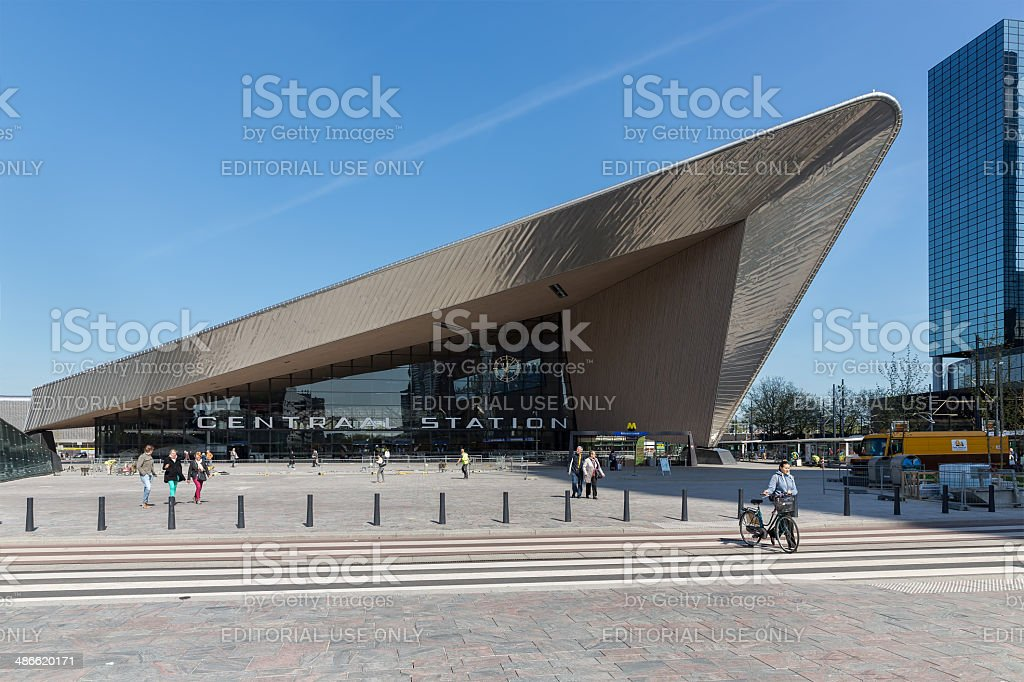 New in  rebuild central station of Rotterdam, the Netherlands stock photo