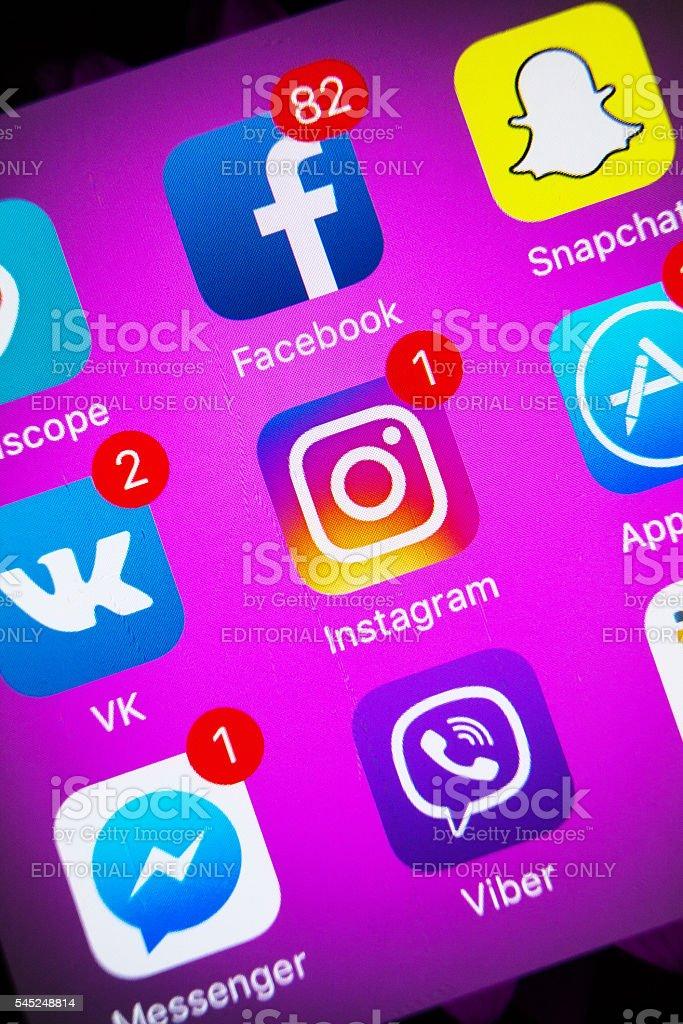 New Instagram Logo stock photo