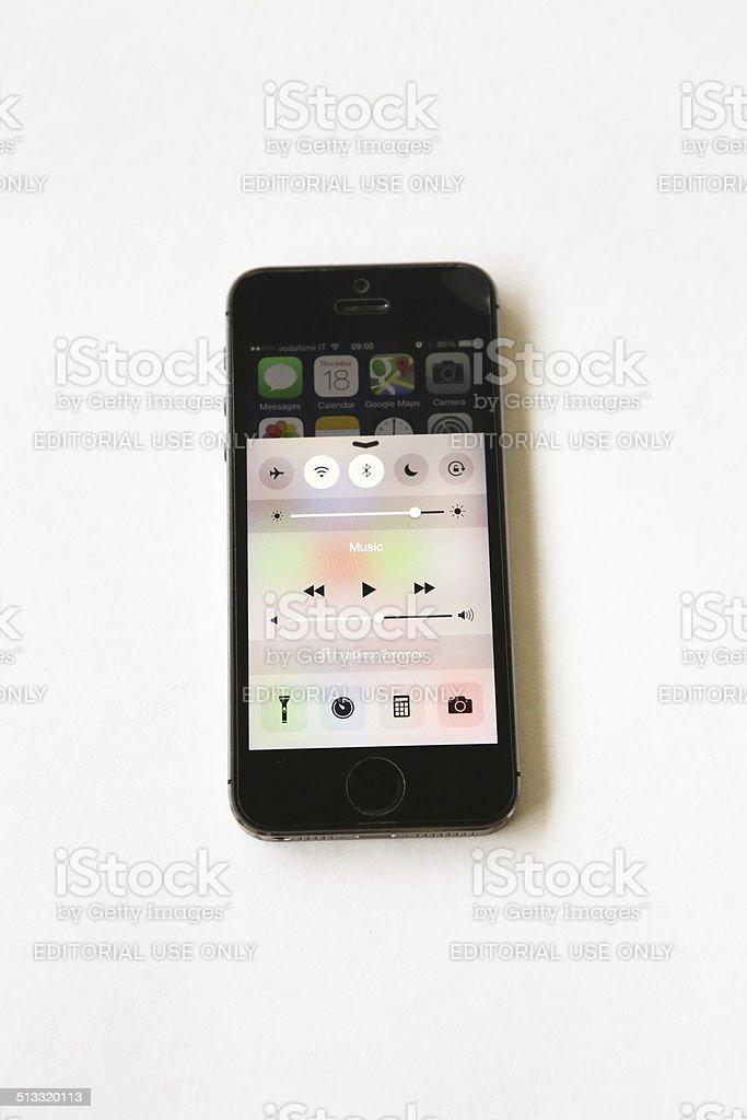 new iOS 8 Control Center royalty-free stock photo