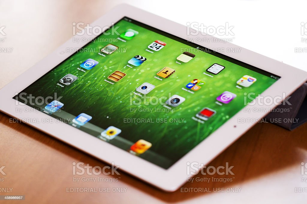 New iPad  - 3rd Generation royalty-free stock photo