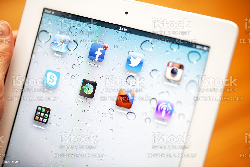New iPad  - 3rd Generation stock photo