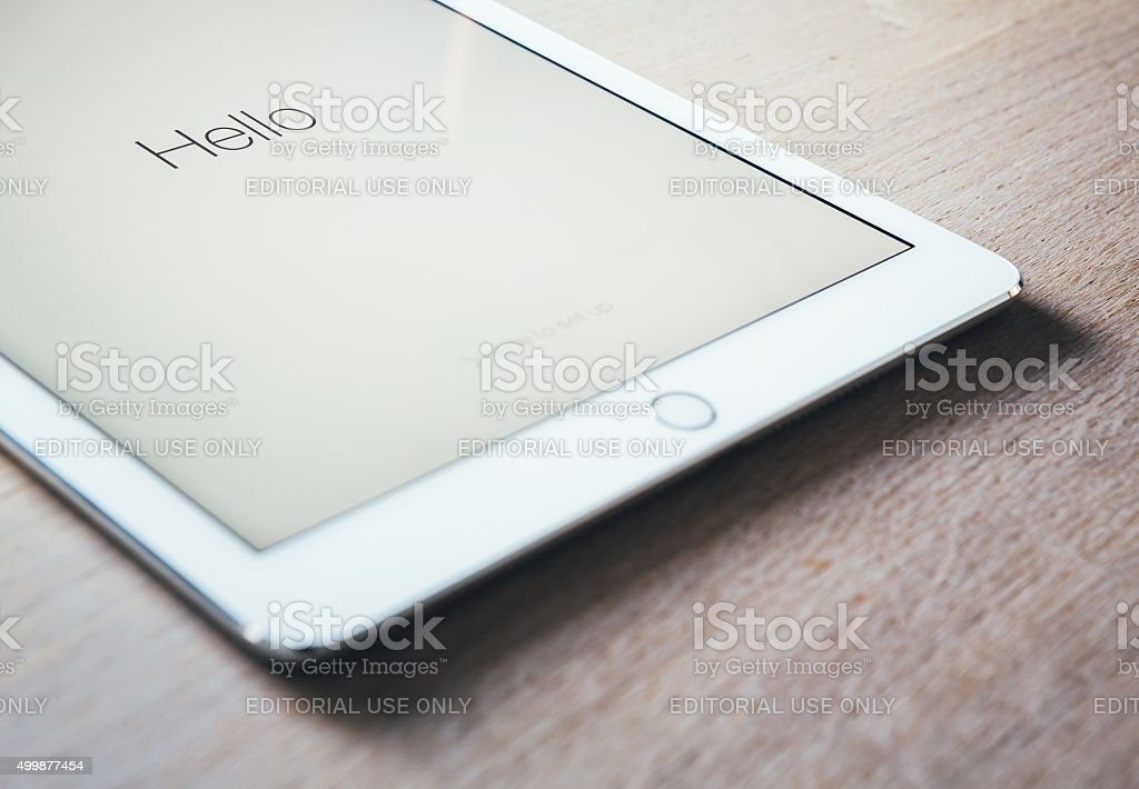 New iPad Air 2 Silver stock photo