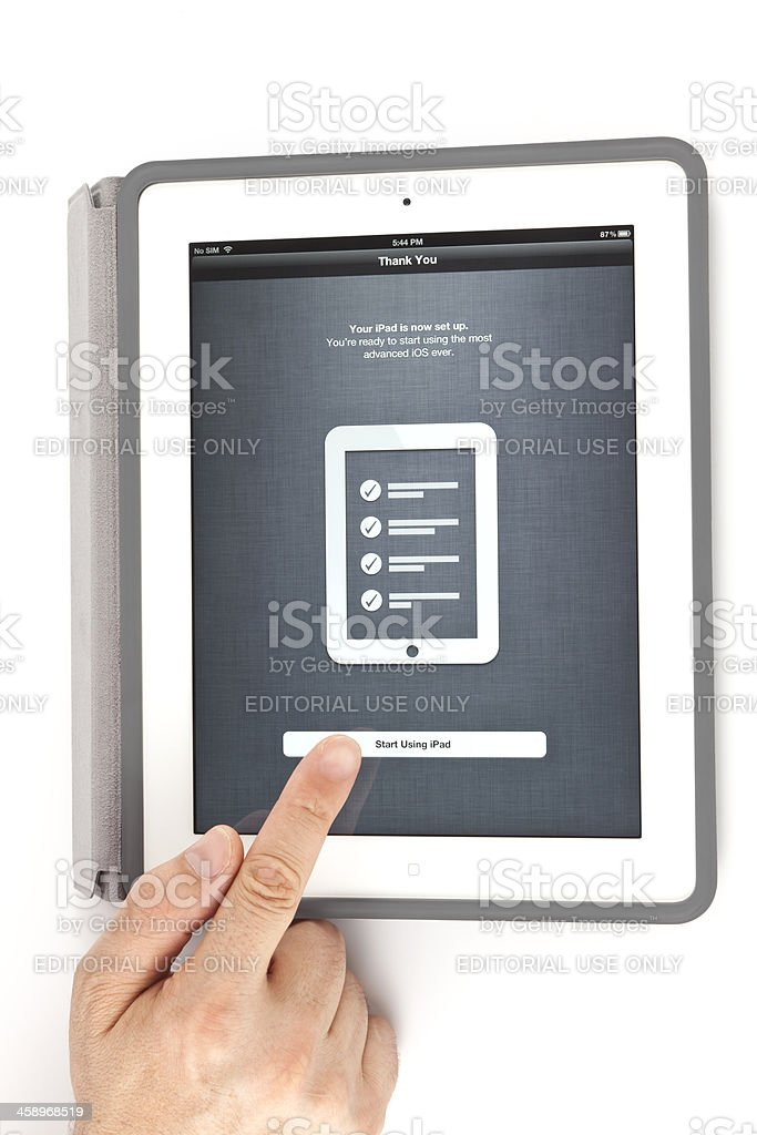 New ipad configuration royalty-free stock photo