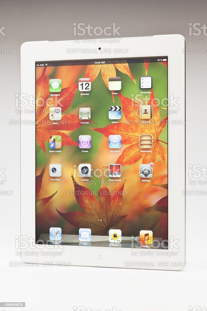 New ipad main screen stock photo