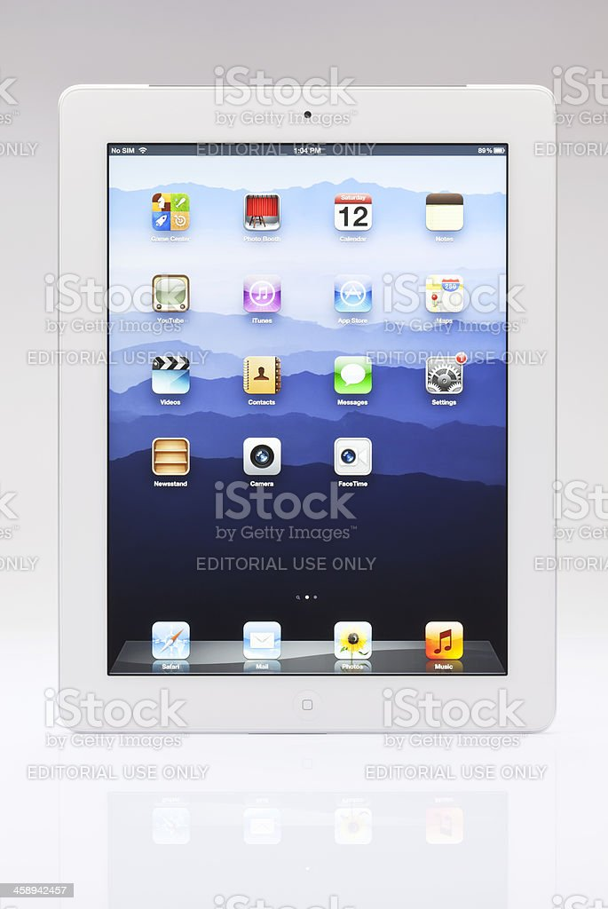 New ipad main screen royalty-free stock photo