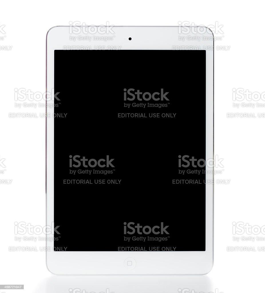new Ipad Mini off isolated on white stock photo