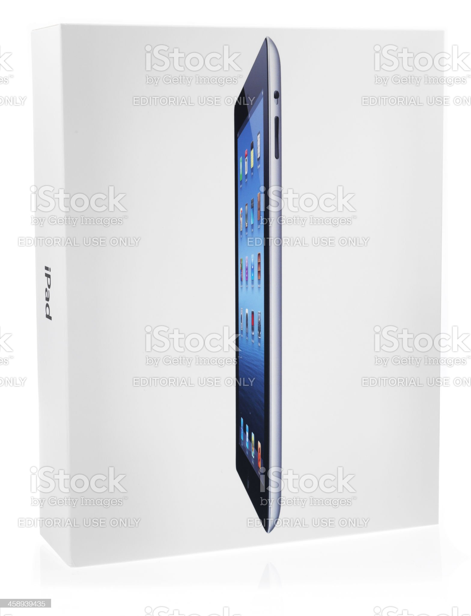 New iPad (3rd Generation) Packaging Box royalty-free stock photo