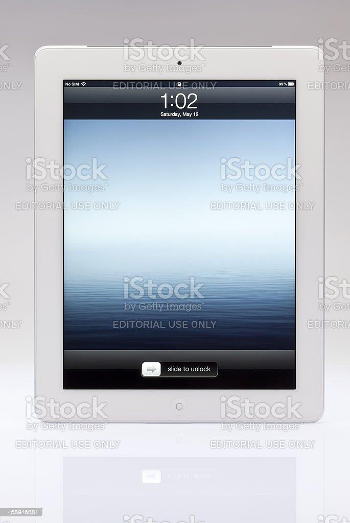 New ipad unlock screen royalty-free stock photo