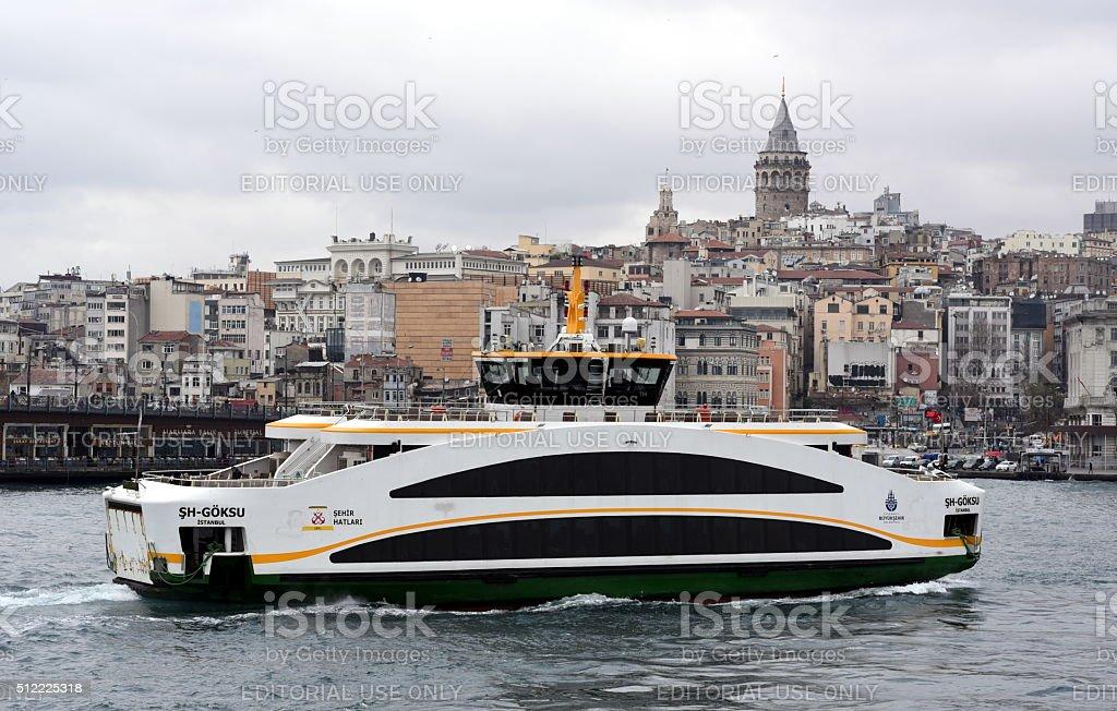 New Istanbul ferries built by OZATA Shipyard stock photo
