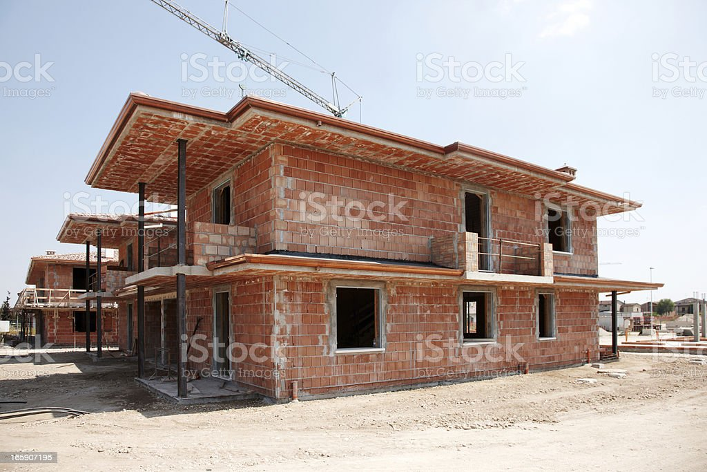 New Italian house building site royalty-free stock photo
