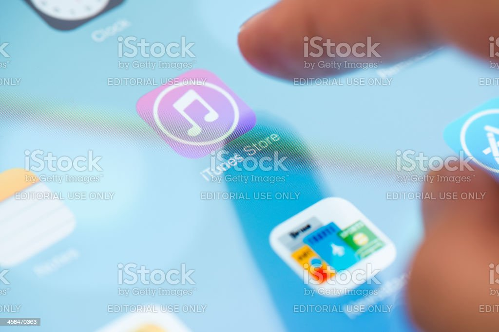 new iTunes Store application on ios 7 royalty-free stock photo