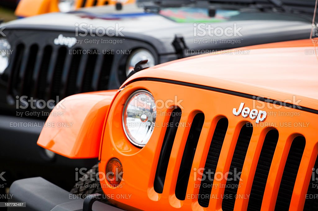 New Jeeps Front Fascia stock photo