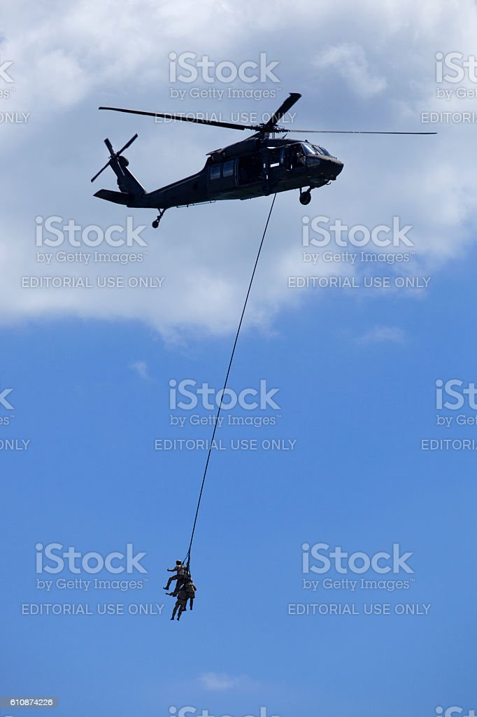 New Jersey Air National Guard's SPIES Demostration stock photo