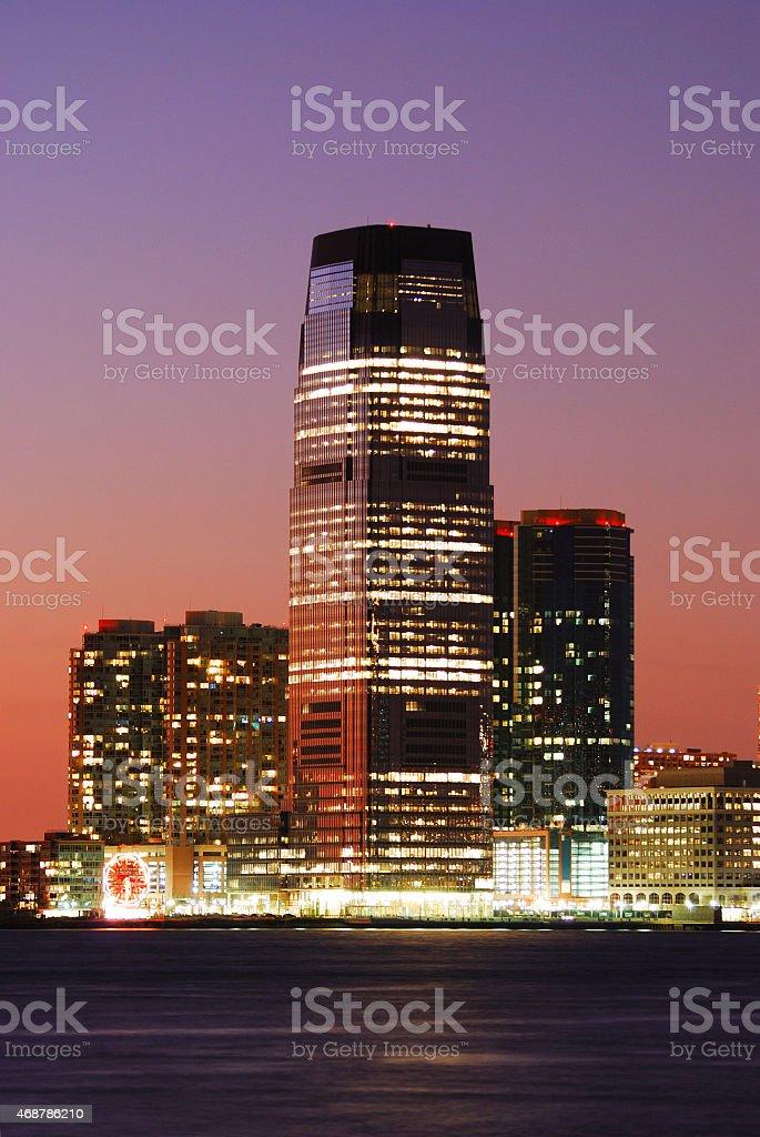 New Jersey Goldman Sachs Tower stock photo
