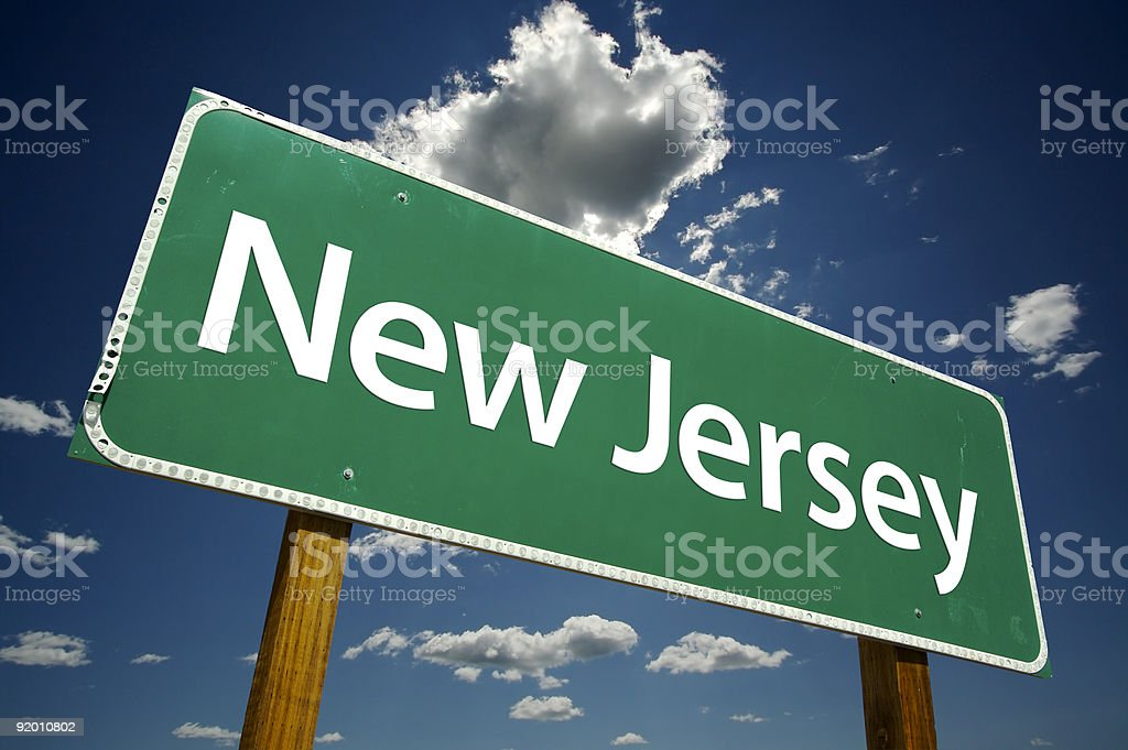 New Jersey Road Sign stock photo