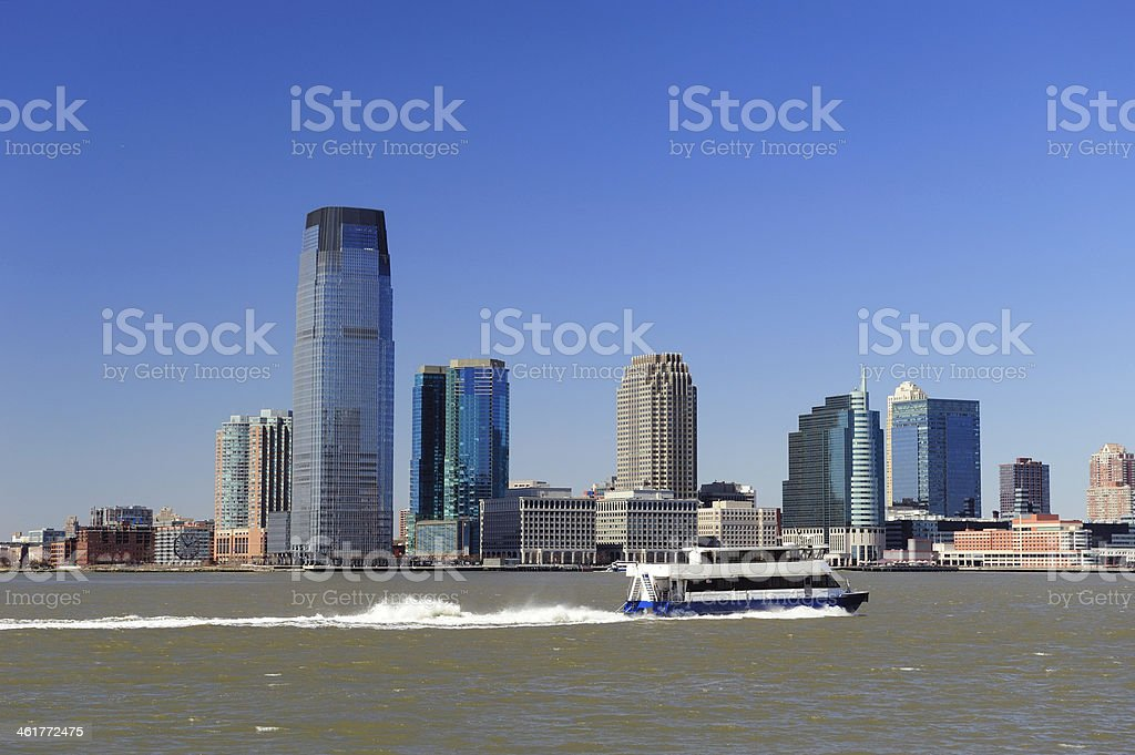 New Jersey skyline from Manhattan downtown stock photo